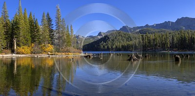 Lake Mary Mommoth Lakes California Overlook Autumn Blue View Point Panoramic Winter - 014343 - 18-10-2014 - 14127x6963 Pixel