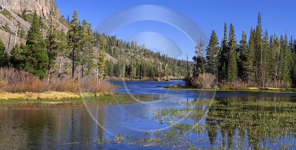 Twin Falls Lakes Mommoth California Overlook Autumn Summer Royalty Free Stock Images Landscape Barn - 014336 - 19-10-2014 - 14149x7162 Pixel