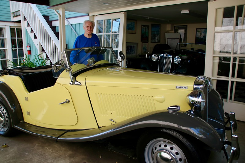Don Martine and an MG from his collection