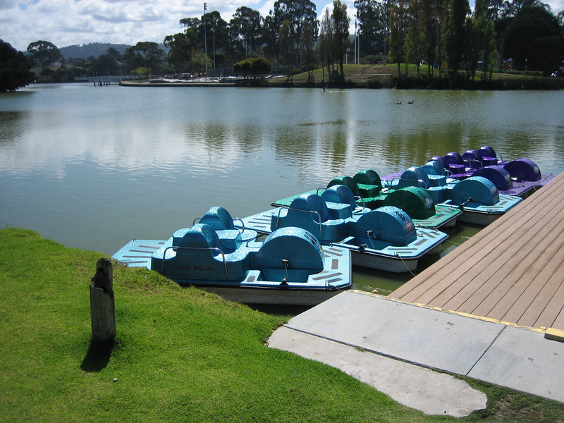 paddle boats near Dennis the Menace Playgound