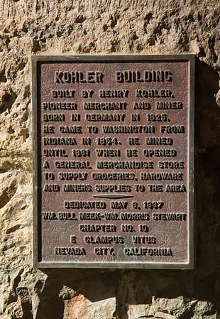 Kohler Building, built 1867.  Washington, CA