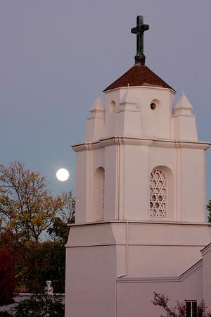 Full Moon over Grass Valley Methodist Church