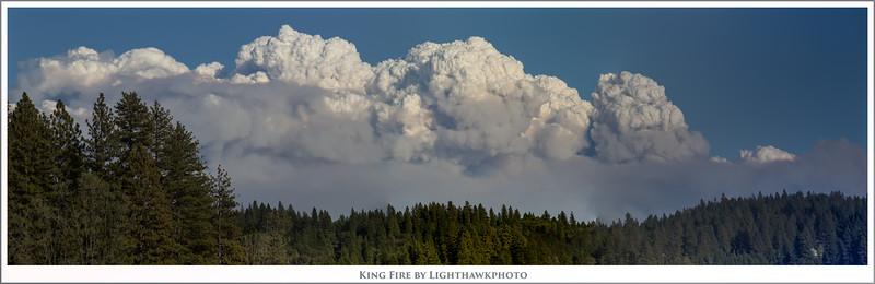 King Fire pyrocumulous cloud
