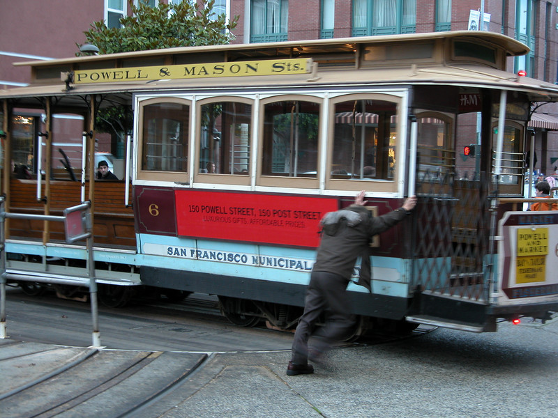 turning a Cable Car