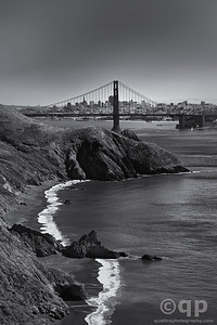CALI COAST AND BAY BRIDGE BLACK AND WHITE