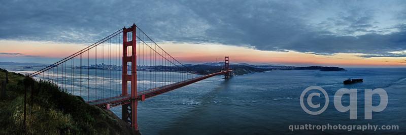 SUNRISE GOLDEN GATE BRIDGE