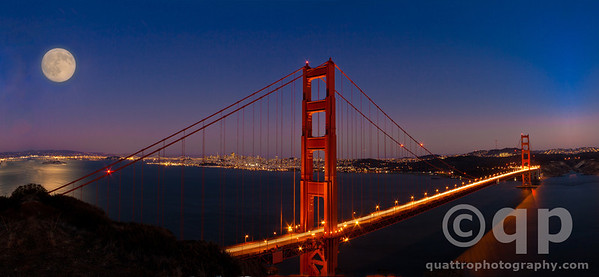 MOONRISE OVER THE GOLDEN GATE BRIDGE