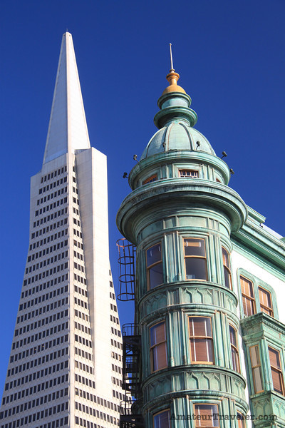 Transamerica Pyramid and American Zoetrope building