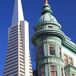Transamerica Pyramid and American Zoetrope – San Francisco, California – Photo