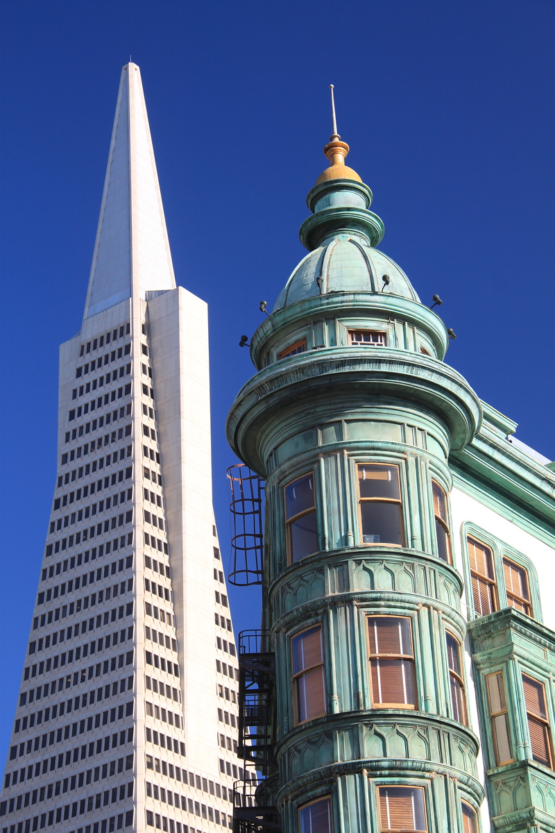 Transamerican Pyramid and American Zoetrope - San Francico, California - Photo