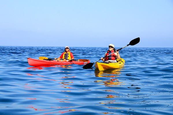 Kayaking off Catalina Island