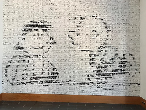 Mural made of thousands of Daily Peanuts strips