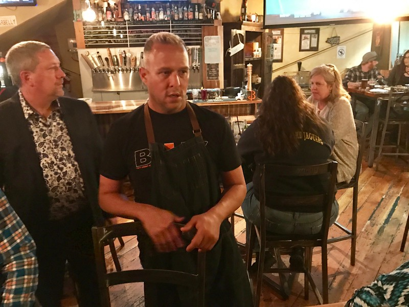Chef Gray Rollin at Belly Left Coast Kitchen and Tap Room