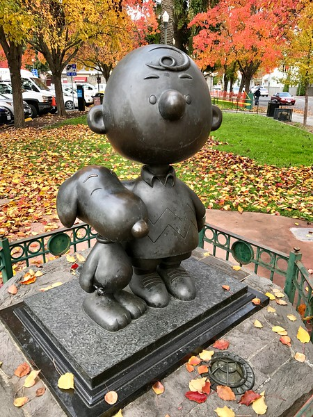 Charlie Brown and Snoopy at Railroad Square