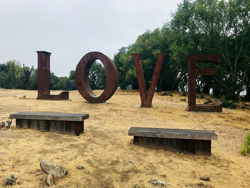 Love sign - Paradise Ridge Winery - Santa Rosa