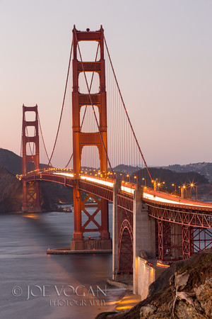 View of Golden Gate Bridge near Baker Beach, San Francisco, Callifornia