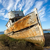 Abandoned Fishing Boat, Point Reyes, Marin County, California