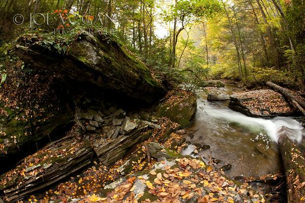 Stream and Waterfall, Pisgah National Forest, North Carolina