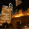 """The Cloud Gate Sculpture (also known as the beam) at night - Chicago, Illinois.  Travel photo from Chicago, USA. <a href=""""http://nomadicsamuel.com"""">http://nomadicsamuel.com</a>"""
