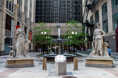 A typical square in Chicago