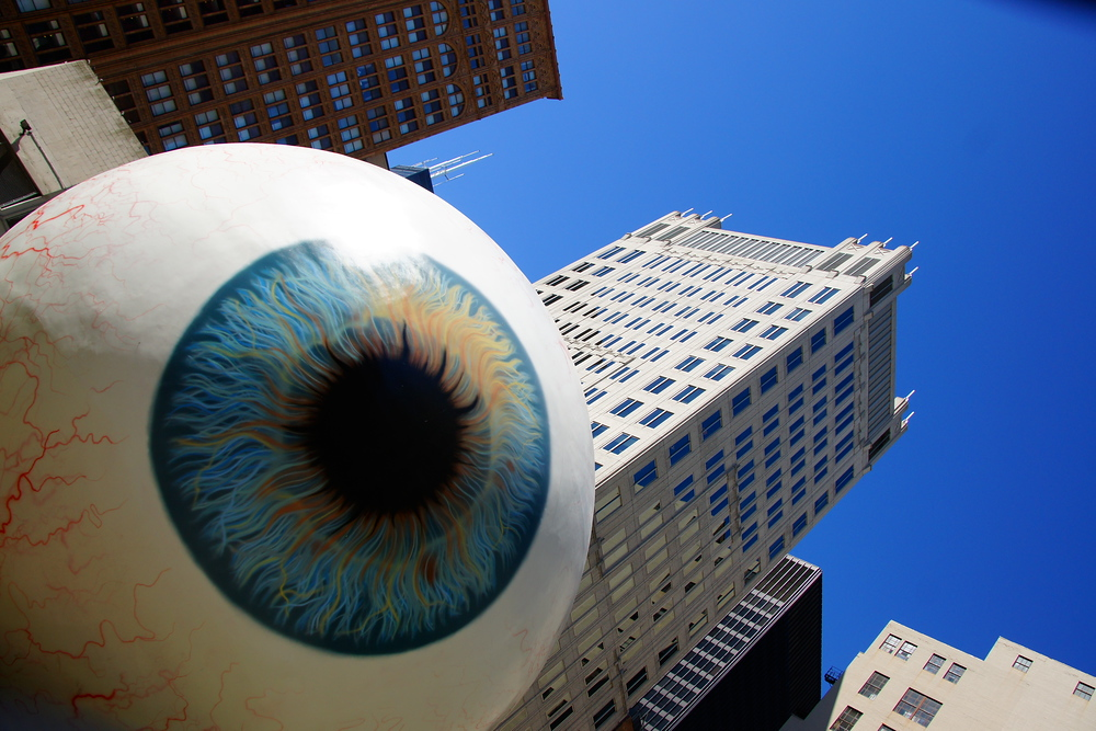 Giant Eyeball in downtown Chicago, Illinois