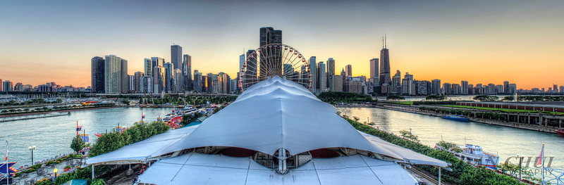 Chicago City Skyline Panorama