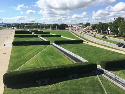 grounds of the Milwaukee Art Museum