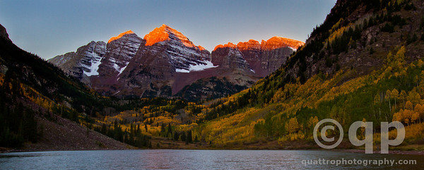MAROON BELLS AT FIRST LIGHT