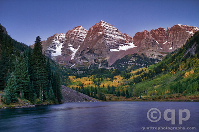 MAROON BELLS BEFORE DAWN