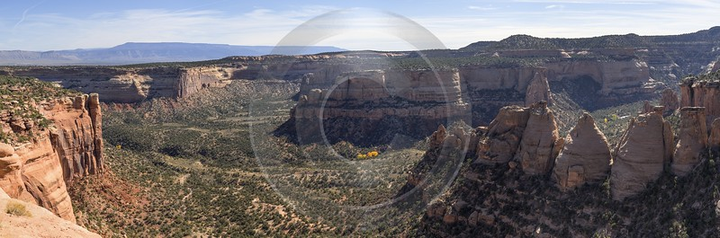 Grand Junction Colorado Rimrock Drive Coke Ovens View Royalty Free Stock Images Autumn - 021903 - 18-10-2017 - 23925x7914 Pixel