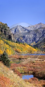Ouray Red Mountain Pass Crystal Lake Colorado Landscape Prints Photo Fine Art - 008213 - 19-09-2010 - 4149x8096 Pixel