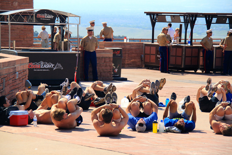 Marines at Red Rocks