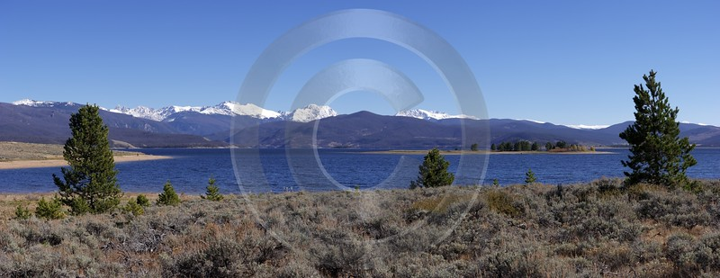 Grand Lake Colorado Landscape Scenic Outlook Viewpoint Panoramic Shoreline Stock Tree Town Winter - 006966 - 15-10-2010 - 10753x4153 Pixel