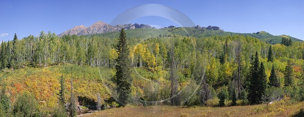 Crested Butte Kebler Pass Gunnison National Forest Colorado Fine Art Printing Stock Pictures - 007560 - 15-09-2010 - 10729x4141 Pixel