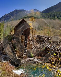 Marble Crystal Mill Historic Site Colorado Landscape Autumn Art Prints For Sale Summer Photography - 012275 - 08-10-2012 - 6876x8709 Pixel
