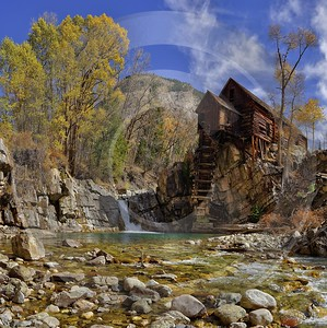 Marble Crystal Mill Historic Site Colorado Landscape Autumn Leave Stock Photos Fine Art Photos - 012258 - 08-10-2012 - 11796x11827 Pixel