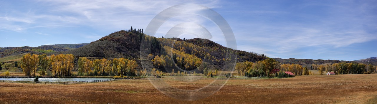 Paonia Country Road Winter Ranch Colorado Landscape Autumn Shore Panoramic Fine Art Printer - 006300 - 27-09-2010 - 16207x4464 Pixel