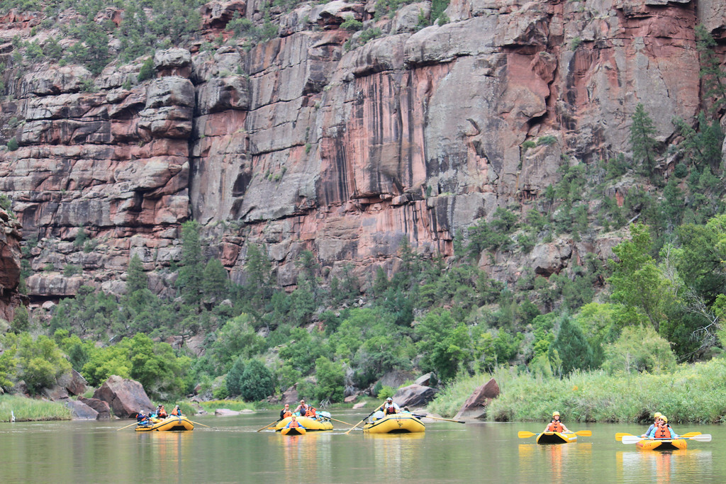 Rafting the Green River in Dinosaur National Monument - Colorado