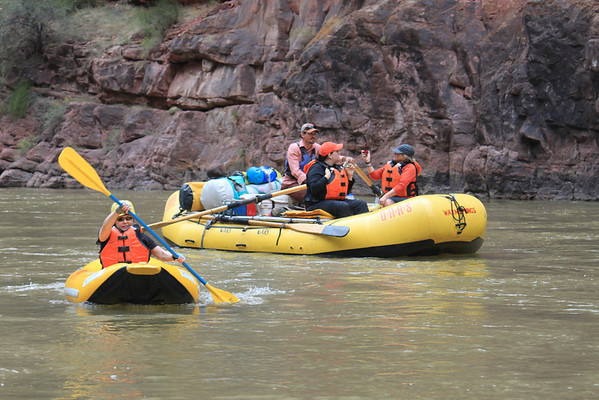 Rafting down the Green River