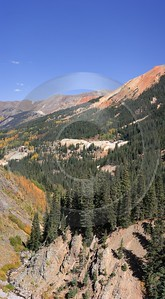 Ouray Red Mountain Pass Colorado Landscape Autumn Color Stock Stock Pictures - 008285 - 19-09-2010 - 4251x7708 Pixel