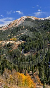Ouray Red Mountain Pass Million Dollar Highway Colorado Summer Fine Art Photography Galleries Stock - 014702 - 06-10-2014 - 7101x12477 Pixel