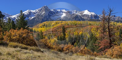 Ridgway Country Road Fine Art Prints For Sale Colorado Mountain Range Autumn - 014423 - 13-10-2014 - 14393x7067 Pixel