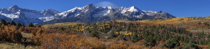 Ridgway Country Road Fine Art Giclee Printing Colorado Mountain Range Autumn Prints For Sale - 014432 - 13-10-2014 - 30842x7220 Pixel