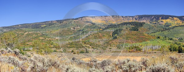 Meeker Ripple Creek Pass Country Road Sale Colorado View Point Stock Art Photography For Sale - 008466 - 21-09-2010 - 9823x3865 Pixel