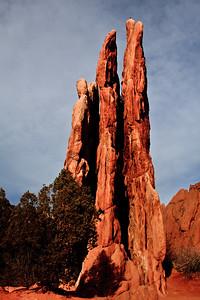 Triple pinnacles, Garden of the Gods, CO