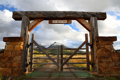 Last Dollar Ranch Entrance Gate, Colorado