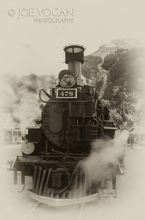 Locomotive engine, Silverton, Colorado