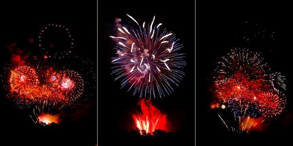 Fireworks triptych #2