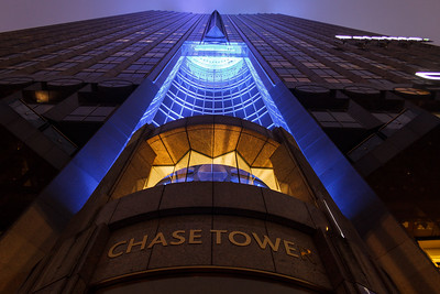 Chase Tower at night