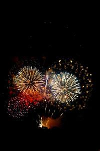Fireworks in a dark sky, #2